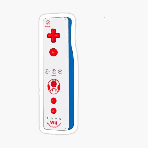 Toad Wii Remote With Wii Motion Plus Inside Sticker