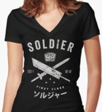 SOLDIER Women's Fitted V-Neck T-Shirt
