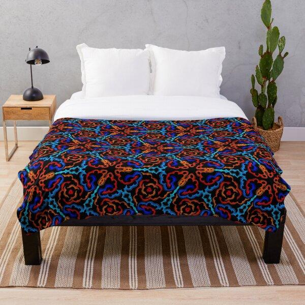 Blue Red  Ankara Throw Blanket