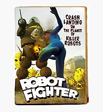 Robot Fighter Fake Pulp Cover 2 Photographic Print