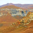 Painted mountain by Rudi Venter