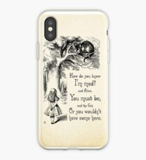 Alice in Wonderland Quote - How Do You Know I'm Mad - Cheshire Cat Quote - 0173 iPhone Case
