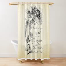 Alice in Wonderland Quote - How Do You Know I'm Mad - Cheshire Cat Quote - 0173 Shower Curtain