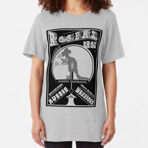 aussie warriors kangaroo by rogers bros Slim Fit T-Shirt