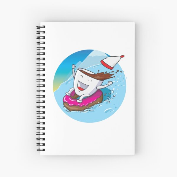 a cup of coffee in the mountains  Spiral Notebook