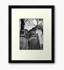 Leaning Graves Framed Print
