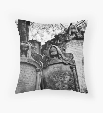 Leaning Graves Throw Pillow