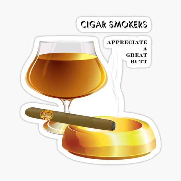 CIGAR SMOKERS Sticker