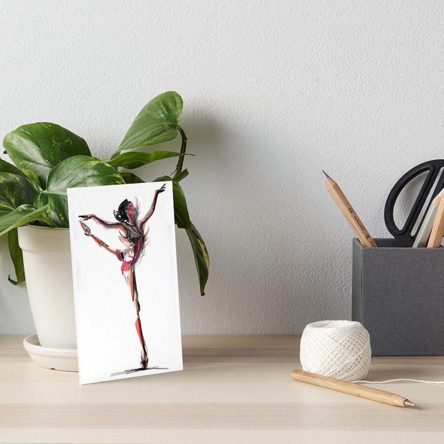 Expressive Dancer Dance Drawing  Art Board Print