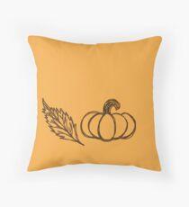 Autumn Pumpkin Sketch Throw Pillow