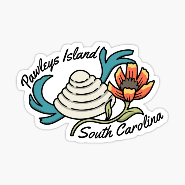 Pawleys Island South Carolina Tourist Souvinier Sea Shell Beach Sticker