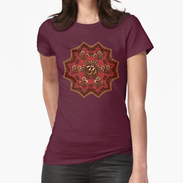 Aum Mandala - Goa Psytrance inspired Fitted T-Shirt