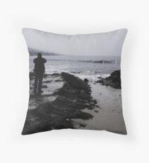 Pacific Contemplation Throw Pillow