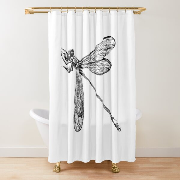 Lynette the Dragonfly  Shower Curtain