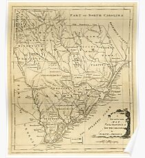 Map of the Province of South Carolina in North America (1779) Poster