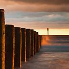 Blyth Groyn Sunrise by Philip  Whittaker