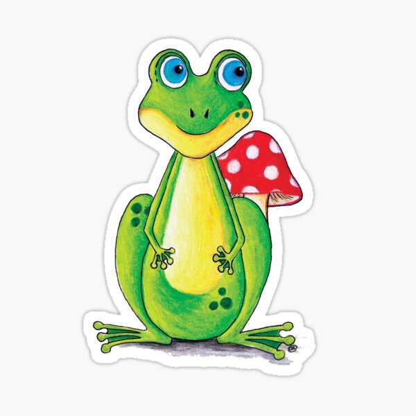 Frog Toadstool Sticker