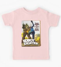 Robot Fighter Fake Pulp Cover 2 Kids Tee