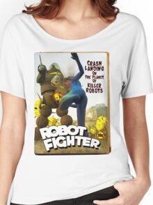 Robot Fighter Fake Pulp Cover 2 Women's Relaxed Fit T-Shirt