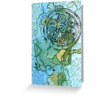 Mapping Happiness Greeting Card