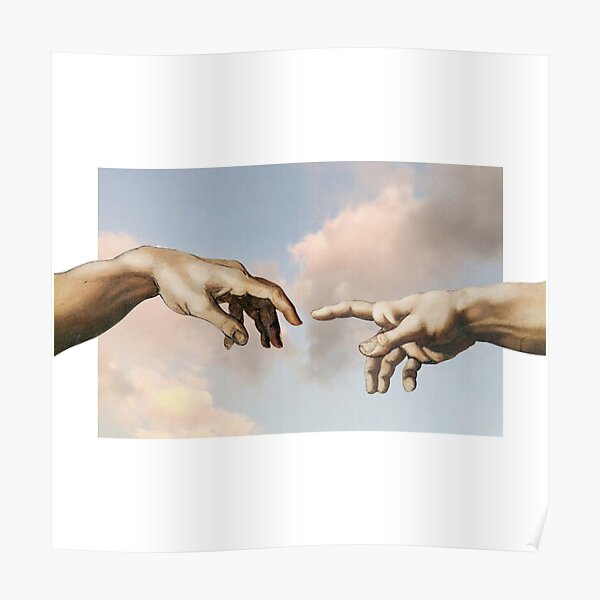 the creation of adam poster by edisr00 redbubble