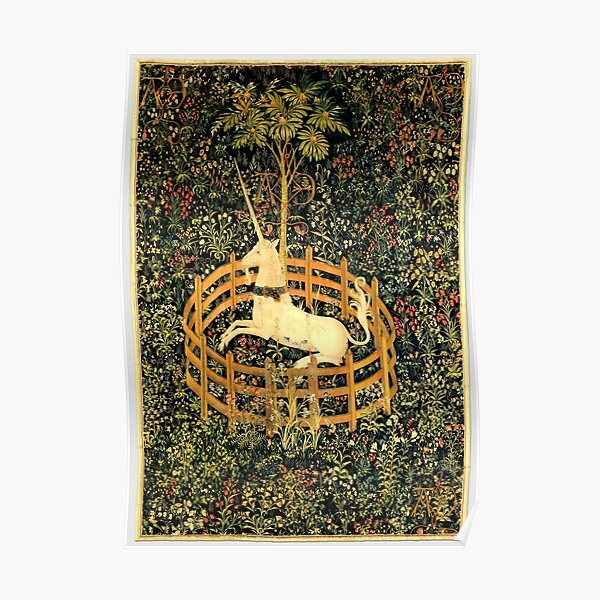The Unicorn in Captivity - On view at The Met Cloisters -Gallery 17 Poster