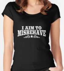 I Aim to Misbehave (White) Women's Fitted Scoop T-Shirt