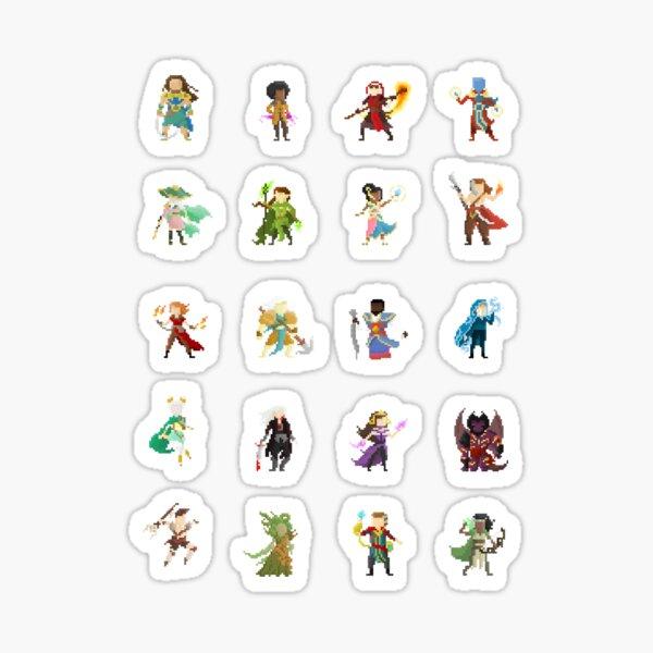 Pixel Planeswalkers Sticker