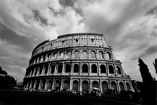 Colosseum in Black and White by Samantha Higgs