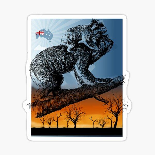 Australian Wildlife Koala Bear - Ora por Australia 2020, no estás solo Pegatina