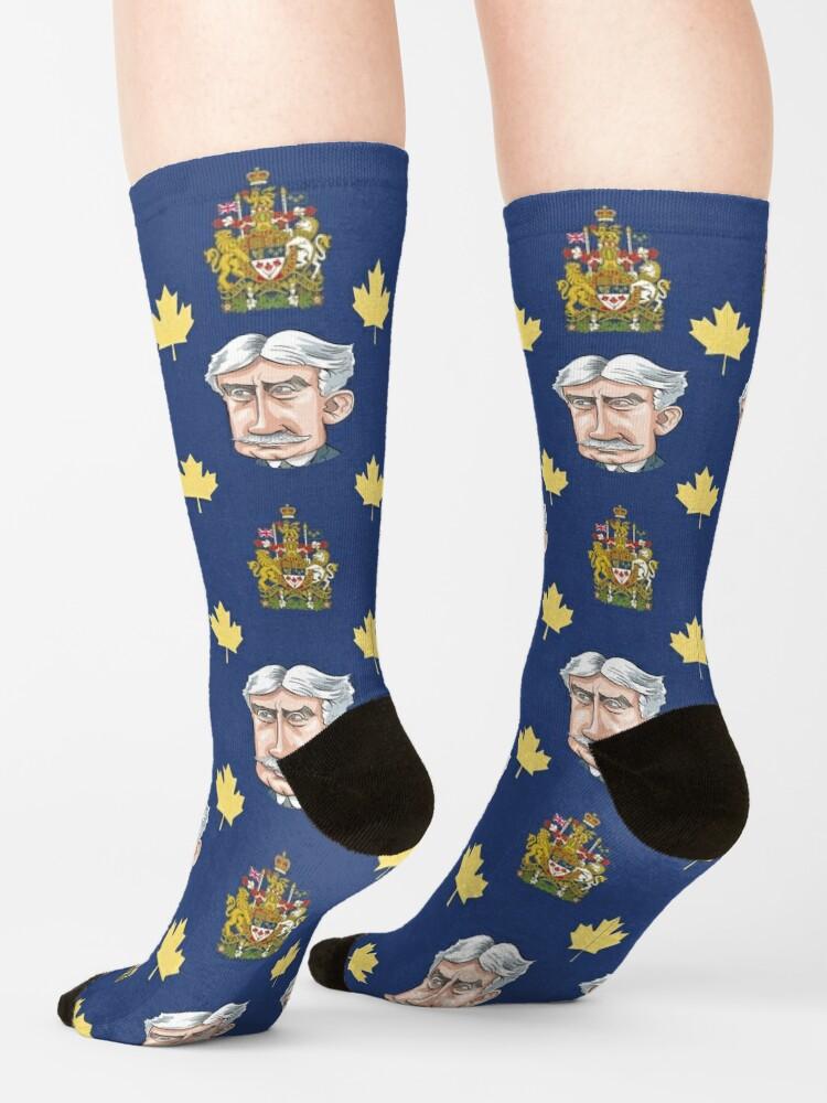Alternate view of Sir Robert Borden, Prime Minister of Canada, 1911-1920 Socks