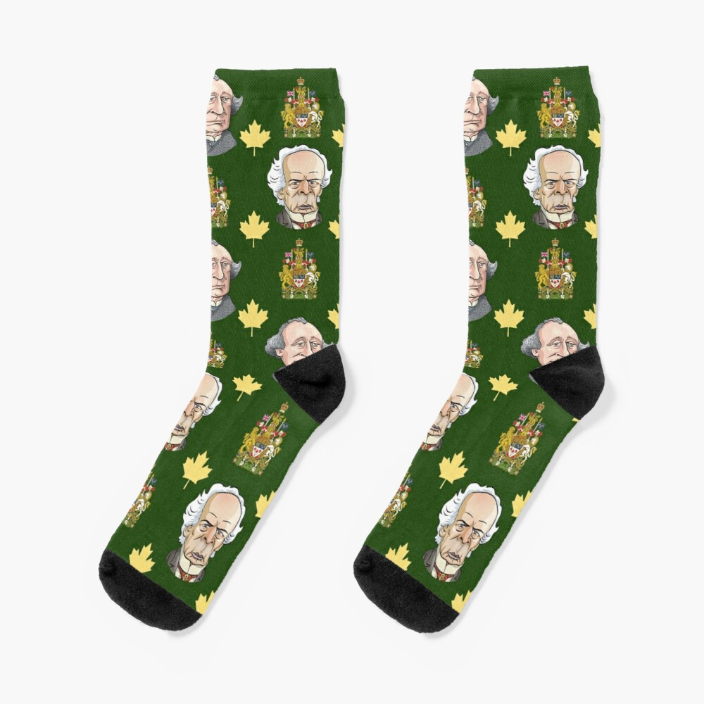 Prime Ministers John A MacDonald & Wilfrid Laurier Socks
