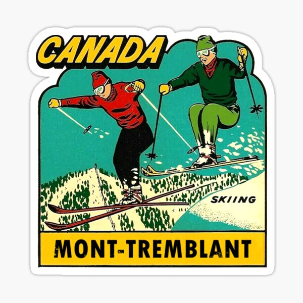 Mont-Tremblant Quebec Skiing Vintage Travel Decal Sticker