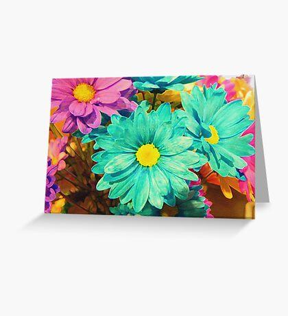 Rainbow of flowers © Greeting Card