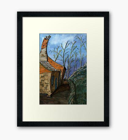 119 - DURHAM VIEW - 1 - DAVE EDWARDS - WATERCOLOUR - SEP 2003 Framed Print