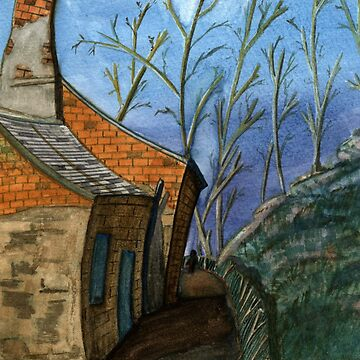 119 - DURHAM VIEW - 1 - DAVE EDWARDS - WATERCOLOUR - SEP 2003 by BLYTHART