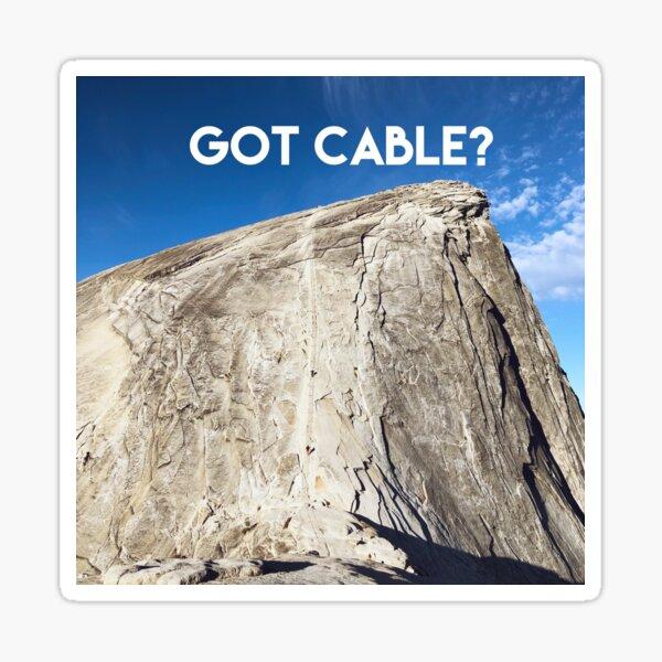 Half Dome Cables Sticker