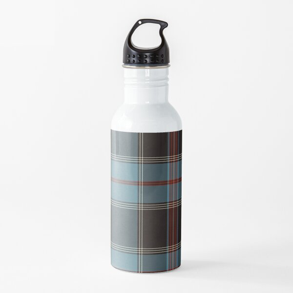 Teal, Brown, Red & Cream Plaid Water Bottle