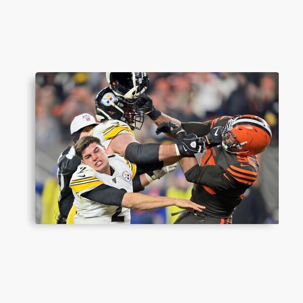 Myles Garrett and Mason Rudolph Canvas Print