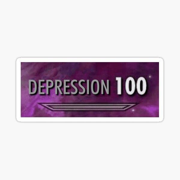 100 Dépression Skyrim Sticker
