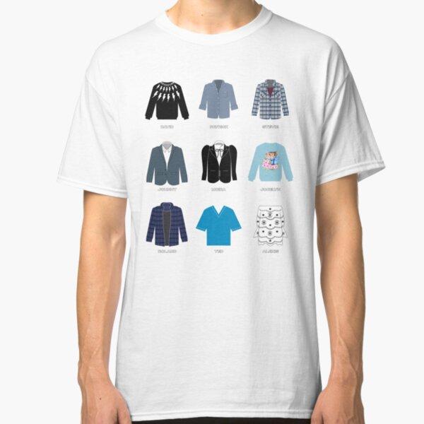 Schitt's Creek Iconic Costumes for David Rose, Patrick Brewer, Stevie Budd, Johnny Rose, Moira Rose, Jocelyn Schitt, Roland Schitt, Ted Mullins and Alexis Rose Classic T-Shirt