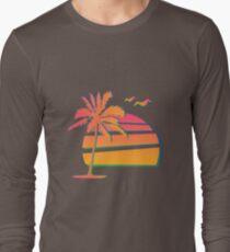 80's Sunset Long Sleeve T-Shirt