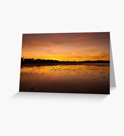 Smoky Sunset, Rowes Bay Greeting Card