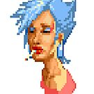 80's Pixel Girl by david swan