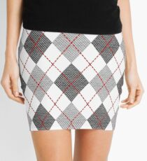 Gray Argyle Mini Skirt