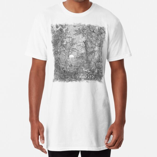 The Atlas of Dreams - Color Plate 4 b&w version Long T-Shirt