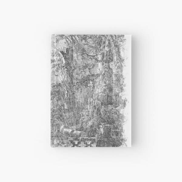 The Atlas of Dreams - Color Plate 4 b&w version Hardcover Journal