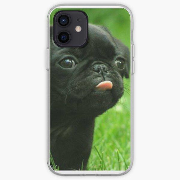 Black Pug iPhone Soft Case