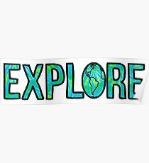 Explore Tie Dye Poster