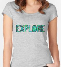 Explore Tie Dye Women's Fitted Scoop T-Shirt